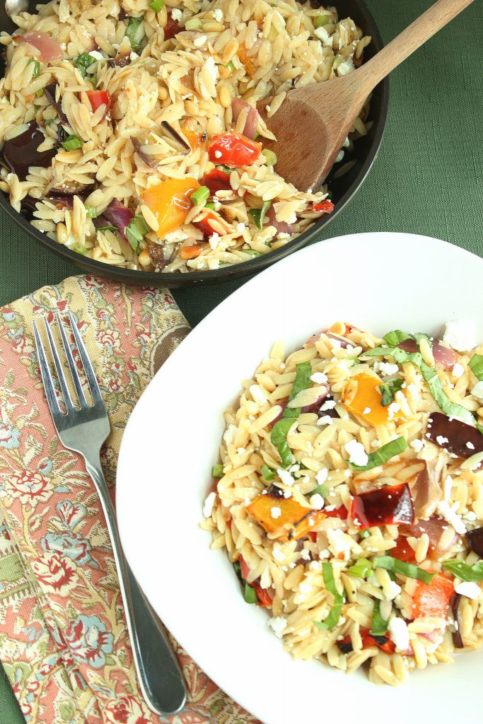 Ina Gartens Orzo With Roasted Vegetables And They Cooked Happily