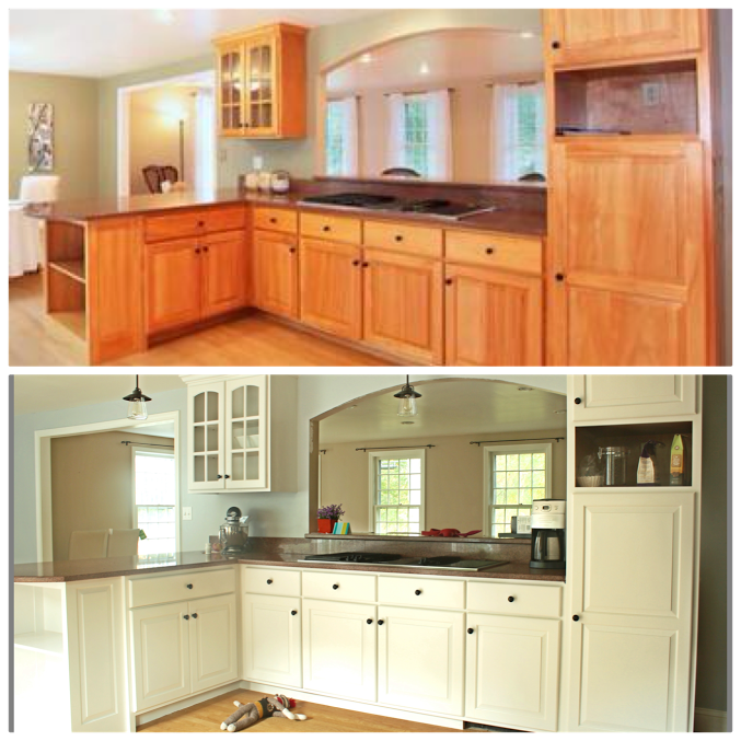 Repainting Painted Kitchen Cabinets: Painting Your Kitchen Cabinets - YOU CAN DO IT!